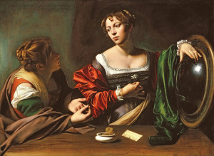 Caravaggio Martha and Mary Magdalene 1598